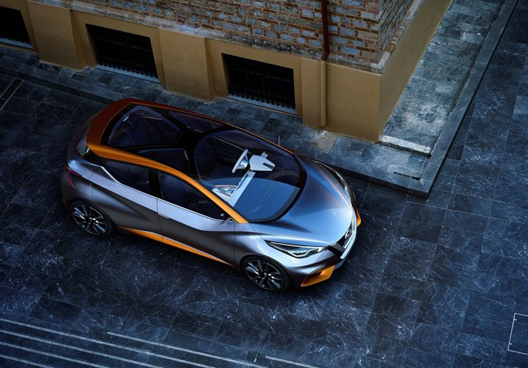 Σε ποσοστό 90% θα μοιάζει το νέο Nissan Micra συγκριτικά με το πρωτότυπο της φωτογραφίας...