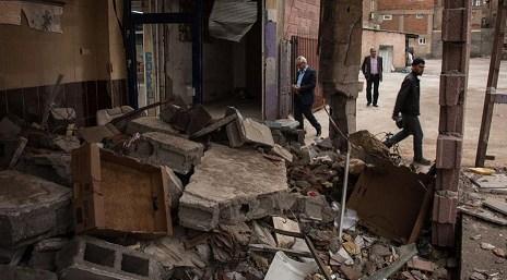 Εικόνα καταστροφές μετά από τις μάχες του τουρκικού στρατού με Κούρδους στο Ντιγιάρμπακιρ