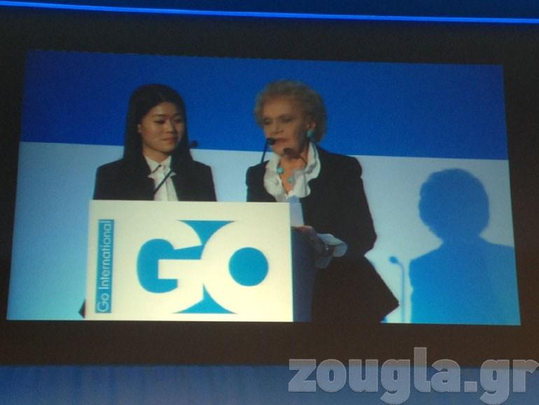 Η Χριστίνα Σακελλαρίδη με τη Wei Liu